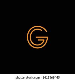 Initial GG G letter logo design in black background