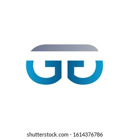Initial GG Letter Linked Logo Design. Abstract GG vector Template