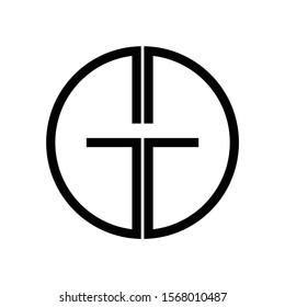 Initial GG Letter logo design vector template