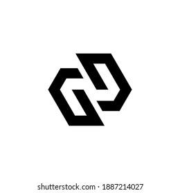 initial GG Letter Logo Design polygon Monogram Icon Vector Template