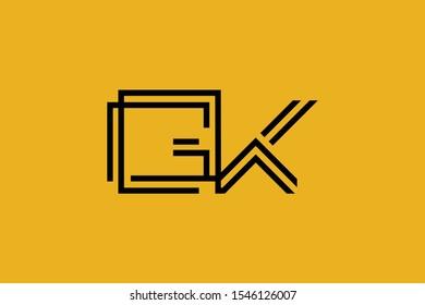 Initial GK KG modern monogram and elegant logo design, Professional Letters Vector Icon Logo on background.