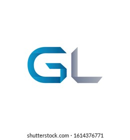 Initial GL Letter Linked Logo Design. Abstract GL vector Template