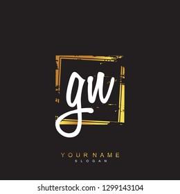 Initial GN handwriting logo vector