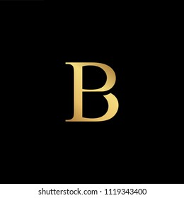 Initial Gold letter BP PB Logo Design with black Background Vector Illustration Template
