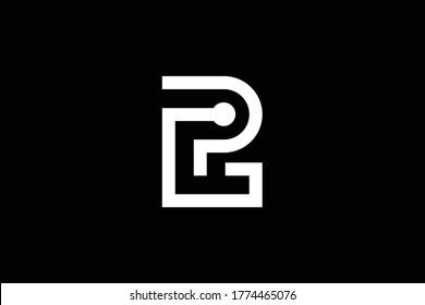 Initial GP PG modern monogram and elegant logo design, Professional Letters Vector Icon Logo on black background.