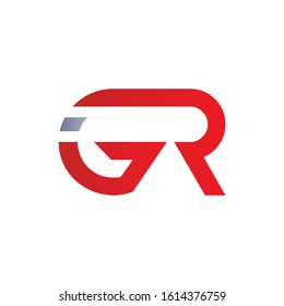 Initial GR Letter Linked Logo Design. Abstract GR vector Template