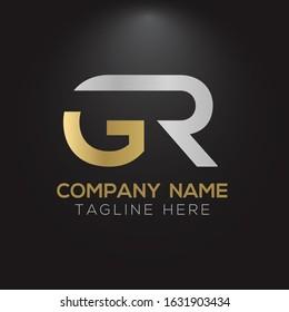 Initial GR Letter Linked Logo. GR Creative Letter Logo Design vector Template