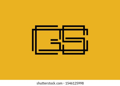 Initial GS SG modern monogram and elegant logo design, Professional Letters Vector Icon Logo on background.