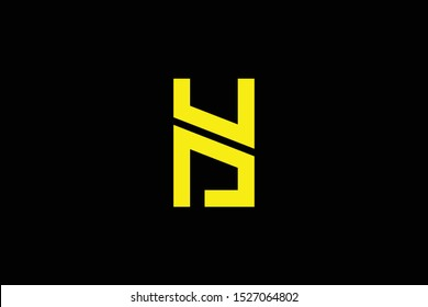 Initial H HY YH HD DH modern monogram and elegant logo design, Professional Letters Vector Icon Logo on black background.