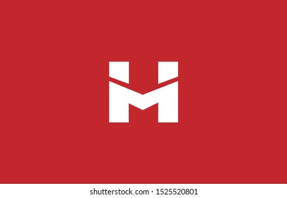 Initial H, M Letter Logo Design Vector Template. Monogram and Creative Alphabet HM MH Letters icon Illustration.