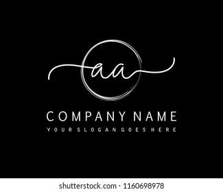 A A Initial handwriting logo vector