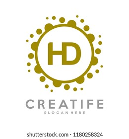 Initial HD logo concepts template vector