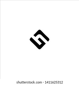 Initial HG H G logo template