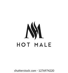 Initial HM MH serif font and custom. logo, sticker, shirt etc.