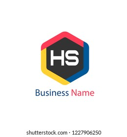 Initial HS Letter Logo Design