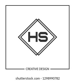 Initial HS Letter Logo Template Design