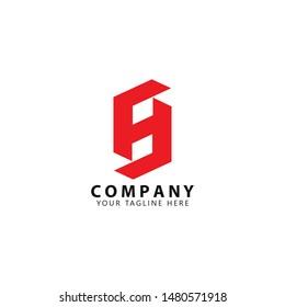 Initial HS Logo Design Templates Vector