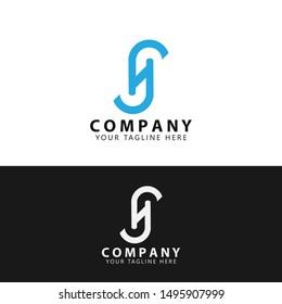 Initial HS Technology Logo Design vector