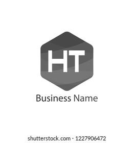 Initial HT Letter Logo Design