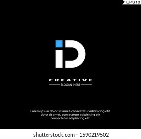Initial ID, DI modern Logo icon design. Vector graphic design template element. Graphic Symbol for Corporate Business Identity.