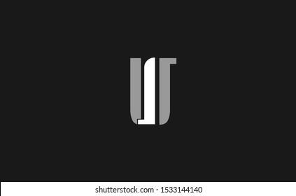 Initial IU Letter Logo Design