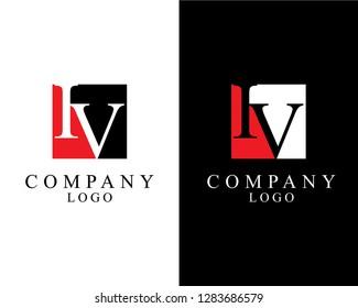 initial iv/vi square shape logo vector for company identity.