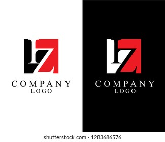 initial iz/zi square shape logo vector for company identity.
