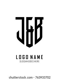 Initial J & B abstract shield logo template vector