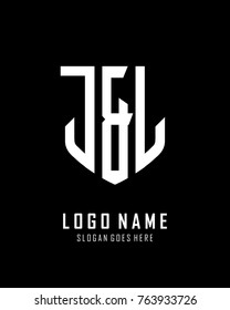 Initial J & L abstract shield logo template vector