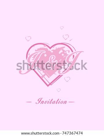 Initial J J Wedding Invitation Logo Stock Vector Royalty Free