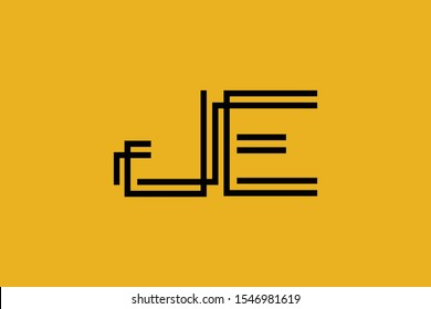 Initial JE EJ modern monogram and elegant logo design, Professional Letters Vector Icon Logo on background.