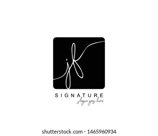 Initial JF beauty monogram and elegant logo design, handwriting logo of initial signature, wedding, fashion, floral and botanical with creative template.