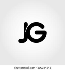 initial jg black business logo