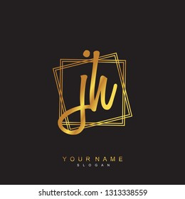 Initial JH handwriting logo vector