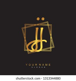 Initial JJ handwriting logo vector
