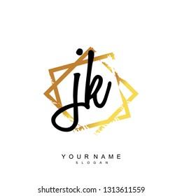 Initial JK handwriting logo vector