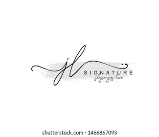 Initial JL beauty monogram and elegant logo design, handwriting logo of initial signature, wedding, fashion, floral and botanical with creative template.