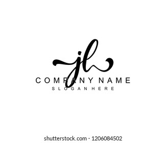 Initial JL handwriting logo vector