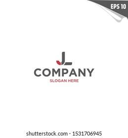 Initial JL Logo monogram design template. Simple elegant shape style modern logo.
