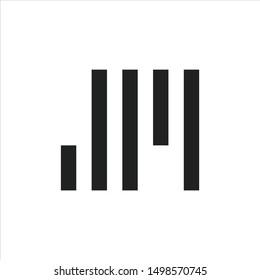 initial JM or MJ vector logo design.