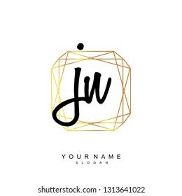 Initial JN handwriting logo vector