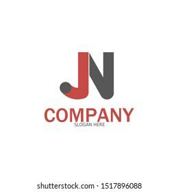 Initial JN Logo monogram design template. Simple style modern logo.