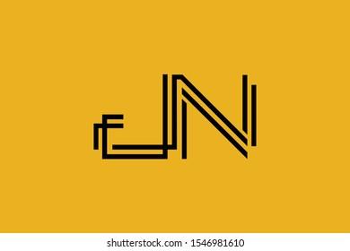 Initial JN NJ modern monogram and elegant logo design, Professional Letters Vector Icon Logo on background.