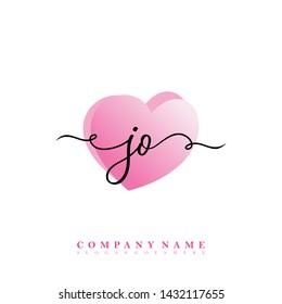 Initial JO beauty handwriting logo