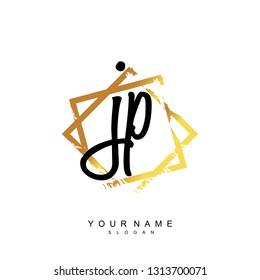Initial JP handwriting logo vector
