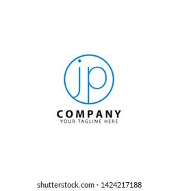 Initial JP Logo Design Inspiration. modern template design