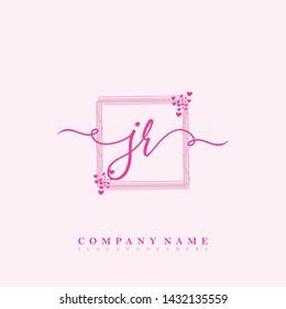 Initial JR beauty handwriting logo
