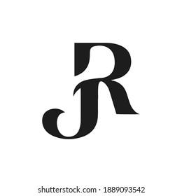 Initial jr letter logo vector template design. Creative abstract letter rj logo design. Linked letter rj logo design.