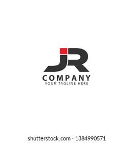 Initial JR Logo Design Inspiration Vector