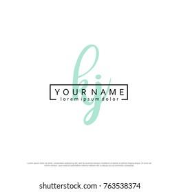 Initial K & J elegant logo template vector